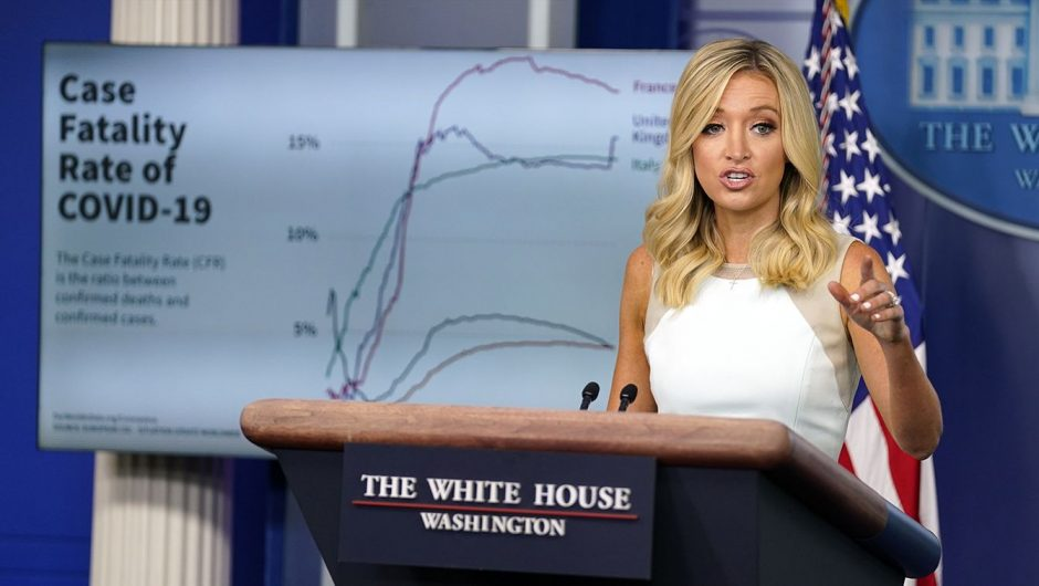 White House defends Trump's claim that 99 percent of COVID-19 cases are 'harmless' with chart showing 5 percent are fatal